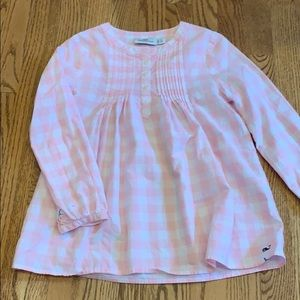 Vineyard Vines pink and white plaid blouse
